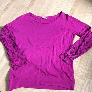 Pink Victoria Secret Women's Long Sleeve Top SZ S